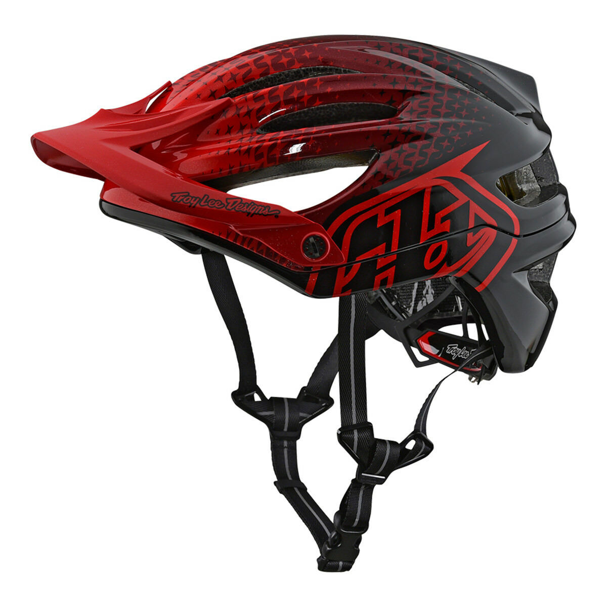 2018 Troy Lee Designs A2 Starburst Casco red Mountain Bicicletta XC