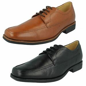 Mens Anatomic Black / Tan Toast  Leather Lace Up Formal Shoes Novais 777707