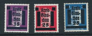 Stamp Germany 1945 WW2 3rd Reich Hitler Kreis Local OP Glauchau Selection MNH