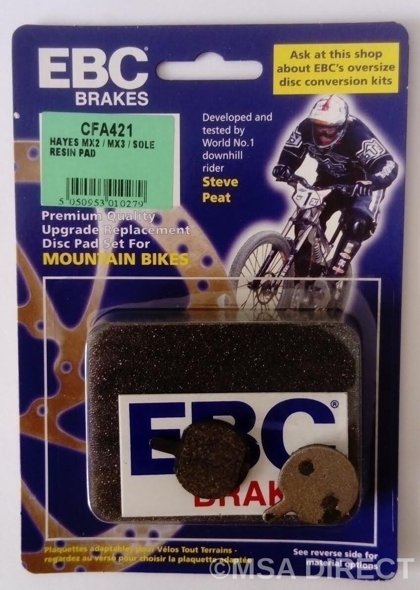 Hayes Suela Hidráulico EBC EBC EBC Resina Bicicleta de Montaña Pastillas Freno (CFA421) 283228