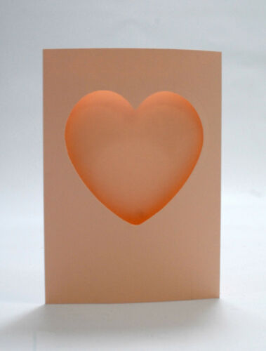 """6/"""" x 4/"""" Heart Window//Aperture Card Blanks Perfect for your DIY Cards"""