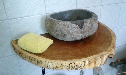 Holzscheibe 75 x 30 x 5 cm Baumscheibe Waschtischplatte ca geölt,Eiche