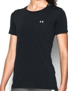 Under-Armour-Damen-Schwarz-Tshirt-UK-Groesse-XS