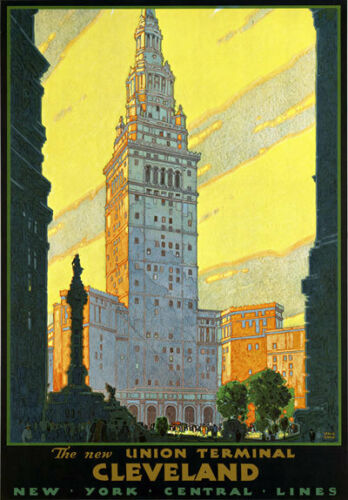 R8 Vintage American Cleveland New York Central Railways Travel Poster A1 A2 A3