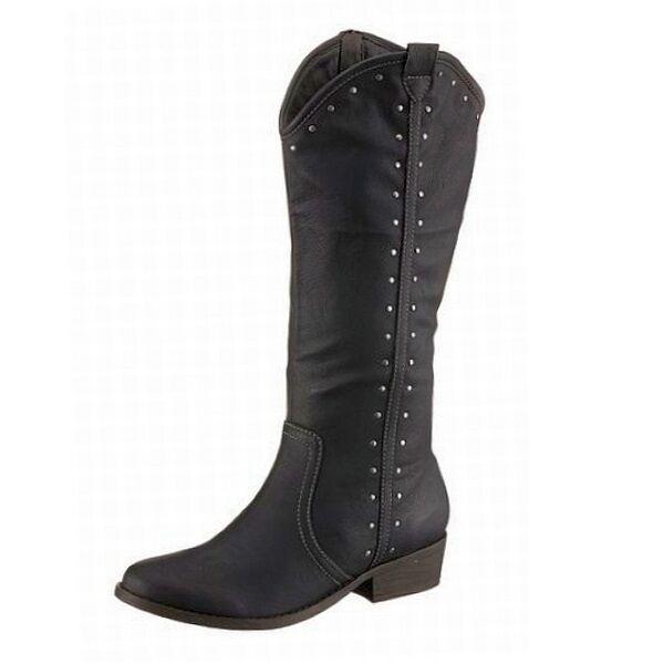 Arizona Stiefel Lederimitat Reißverschluss Westernstyle schwarz Gr.36 NEU