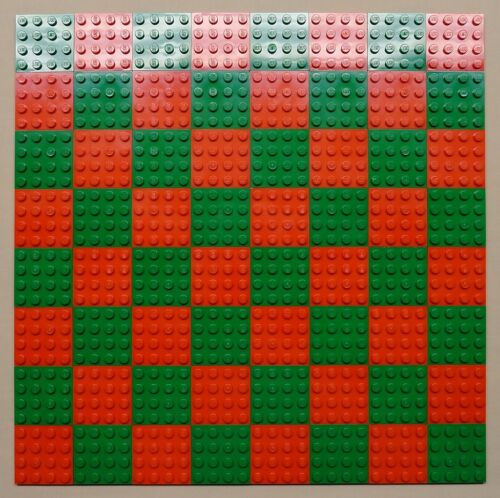 x64 NEW Lego Plates 4x4 Red /& Green Baseplates MAKES CHESS Game Board