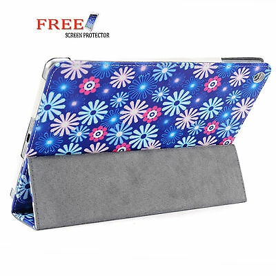 Lavender 3 Fold Flower Pu Leather Smart Cover Case for Apple iPad Air iPad 5