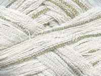 Euro Yarns ::broadway 09:: Ruffle Scarf Yarn Whiten W/silver 50% Off