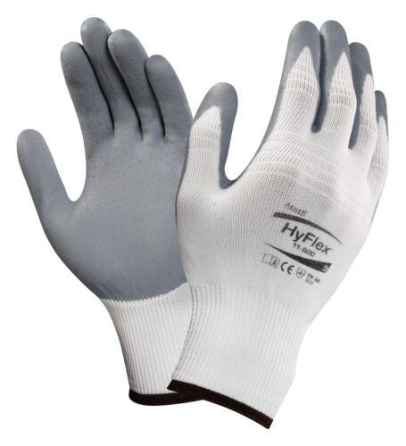 12 Paar Feinmontagehandschuhe Ansell Handschuhe HyFlex  11-800 Größe 9 und 10