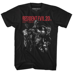 Resident-Evil-20th-MONSTERS-T-Shirt-in-Sizes-SM-5XL-WITH-NECK-TAG-In-Black