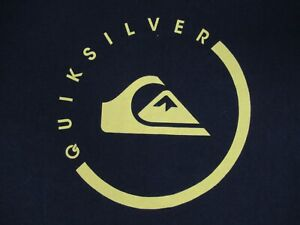 Quiksilver-Nome-e-Logo-XL-Nero-T-Shirt-C575