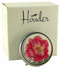 Cute Pill Box For Purse Decorative Pill Case Pink Flower Holder Mint Case Metal