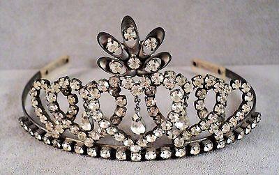 Vintage Sparkly Rhinestone Crown Tiara for Wedding Quinceanera - Estate Find