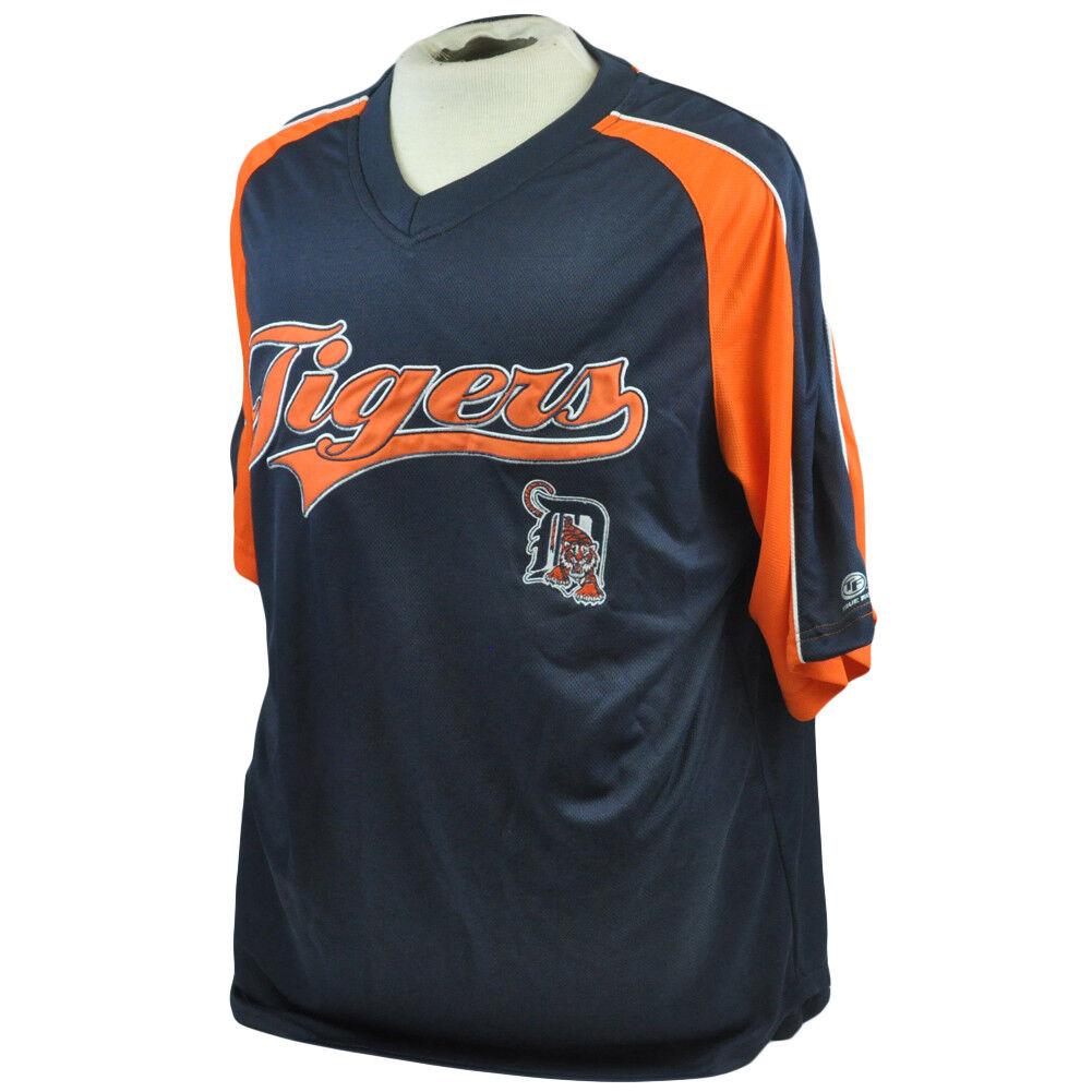 MLB Verdadero Digreenida Detroit Tigers Ligero Jersey Camiseta Oficial Poliéster