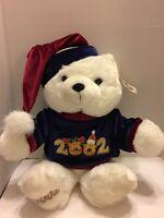 Dan Dee Beautiful 2002 White Keepsake Teddy Bear Plush 18 Seated