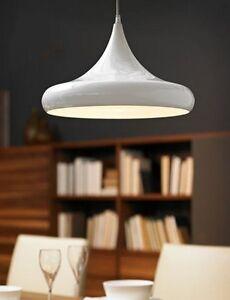 Lampadario lampada sospensione design moderno acciaio bianco ...