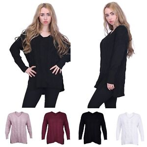 ad3484dfd Women Winter Casual V Neck Loose Fit Knit Sweater Pullover Top