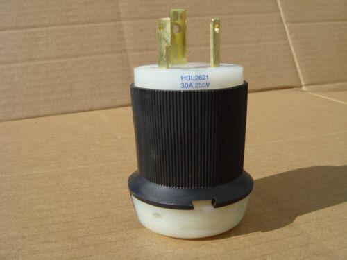 30A 250V L6-30P HBL2621 Hubbell Connectors 2P3W