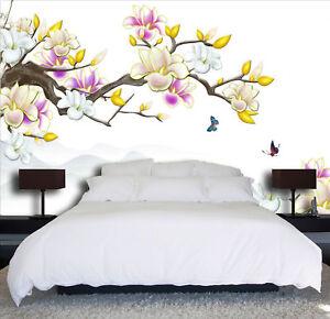 3D-Peach-Butterfly-88-Wallpaper-Mural-Paper-Wall-Print-Wallpaper-Murals-UK