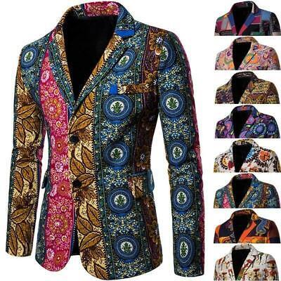 Men/'s Business Suit Blazer Bar Slim Fit Clubwear Leather Dress Coat Jacket Tops