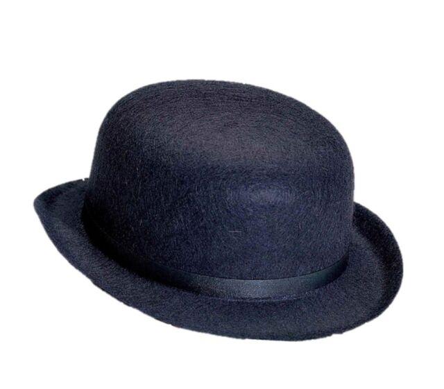 Buy Steampunk Derby Hat Prop Costume Black Felt Gangster Gentleman ... fa88d050420
