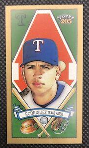 ALEX RODRIGUEZ 2003 Topps 205 MINI Brooklyn #50 Texas Rangers Baseball MLB