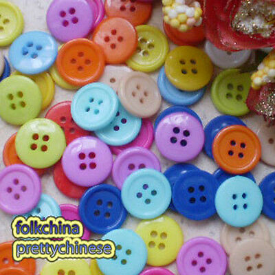 Assorted Round 4 Hole 20mm Plastic Buttons Sewing Scrapbooking Cardmaking ASTB05