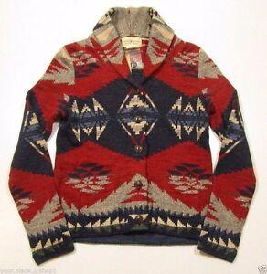 amargo pivote vistazo  Denim & Supply Ralph Lauren Wom Native Indian Southwestern Cardigan Sweater  S   eBay
