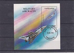TANZANIE-1994-AVIONS-MILITAIRES-BLOC-OBLITERE-YT-223