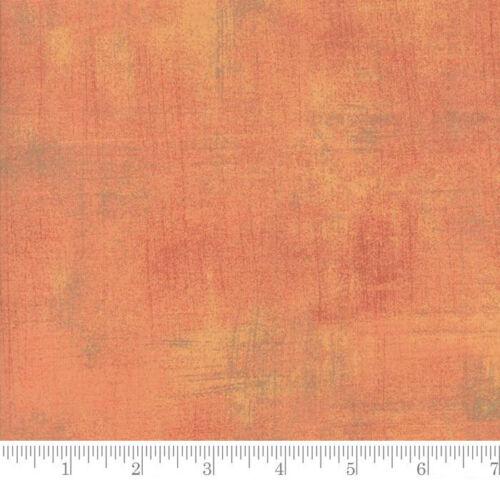 Orange Quilting Fabric Sold Per 1//4 Metre Moda Fabric Grunge Cantaloupe