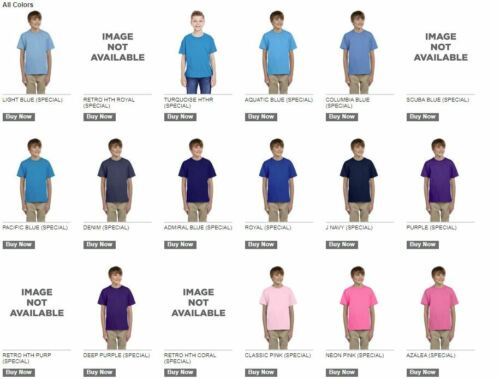 HD Cotton Youth Short Sleeve T-Shirt more colors 3930BR Fruit of the Loom