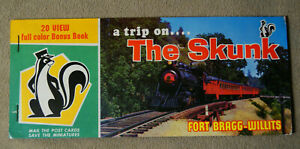20-View-Post-Card-Book-The-Skunk-California-Western-RR-Color