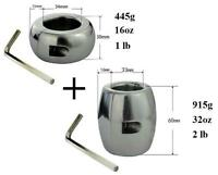 Testicle Ball Stretchers Weight (2) 445 & 915g Large Heavy 2 Piece Scrotum Usa
