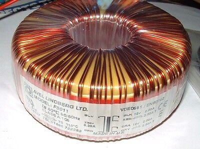 60VA 2 x 0-12v 2.5A ac toroidal mains transformer Avel Lindberg F5011 60W 230v