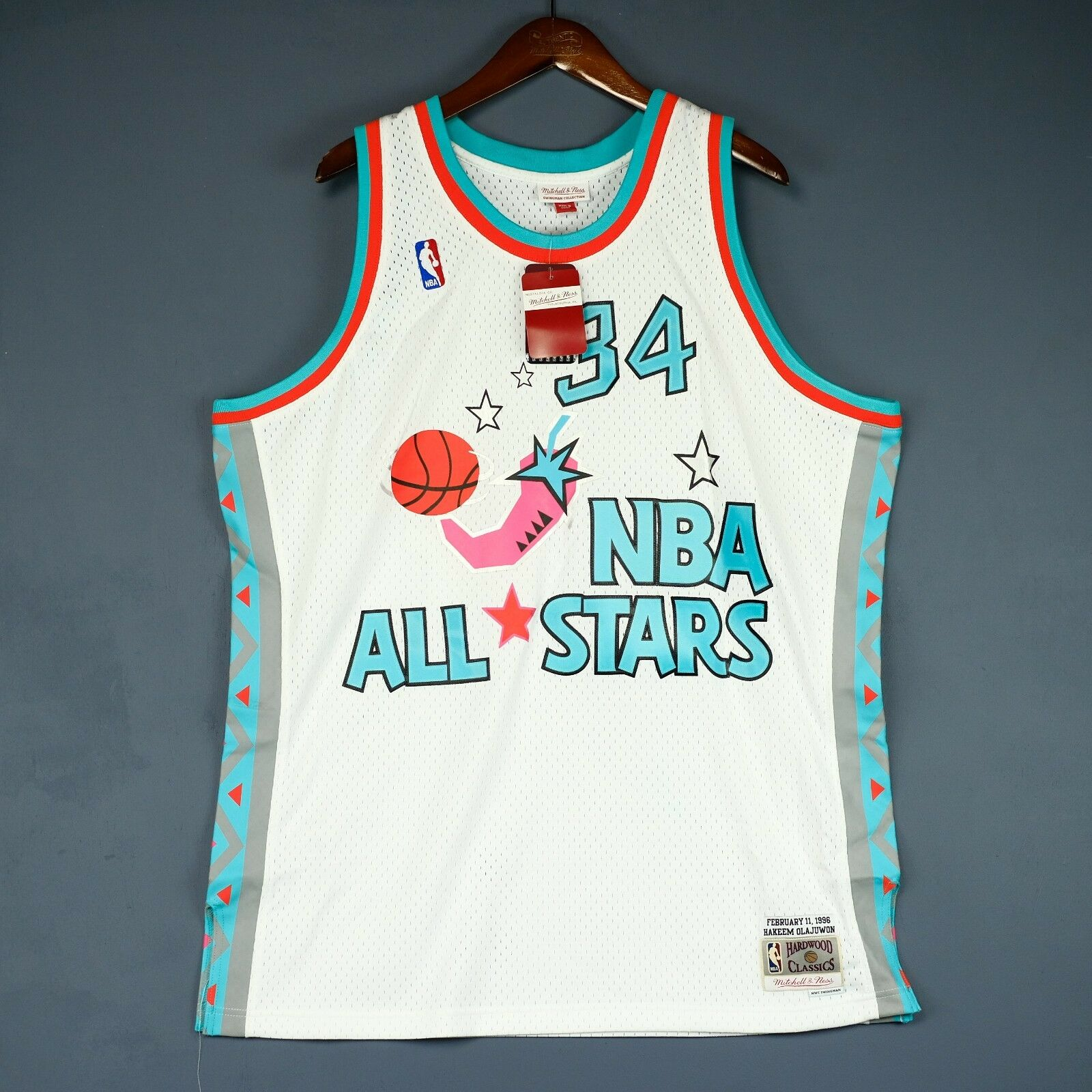 100% Authentisch Hakeem Olajuwon Mitchell Ness All All All Star Swingman Trikot Größe XL dca812