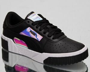 Details about Puma Cali Glow Women's Black Casual Leather Lifestyle Shoes  Low Sneakers