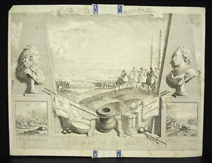 Battle-Fontenoy-war-Estate-Austria-victoire-french-engraving-c1770