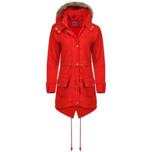 Bambine BAMBINI Parka Fleece Jacket Trench inverno autunno cappotto con cappuccio in pelliccia sintetica 7-13y