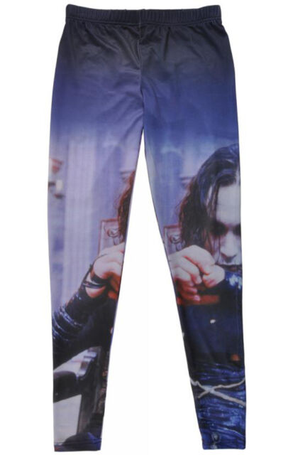 The Crow Leggings Gothic Pants Eric Draven Licensed Womens Stretch Ankle Length