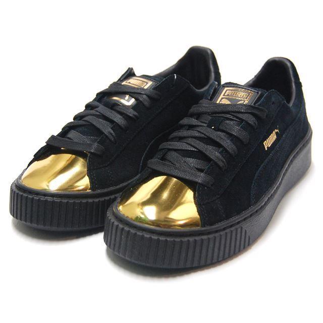 PUMA SUEDE 1.5  PLATFORM PLATFORM PLATFORM baskets femmes chaussures COAL or 362222-02 Taille 7.5 NEW 12f786