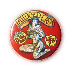 Badge DAME TATTOOEE burlesque lady Pin up rockabilly punk rock glamour pop Ø25mm