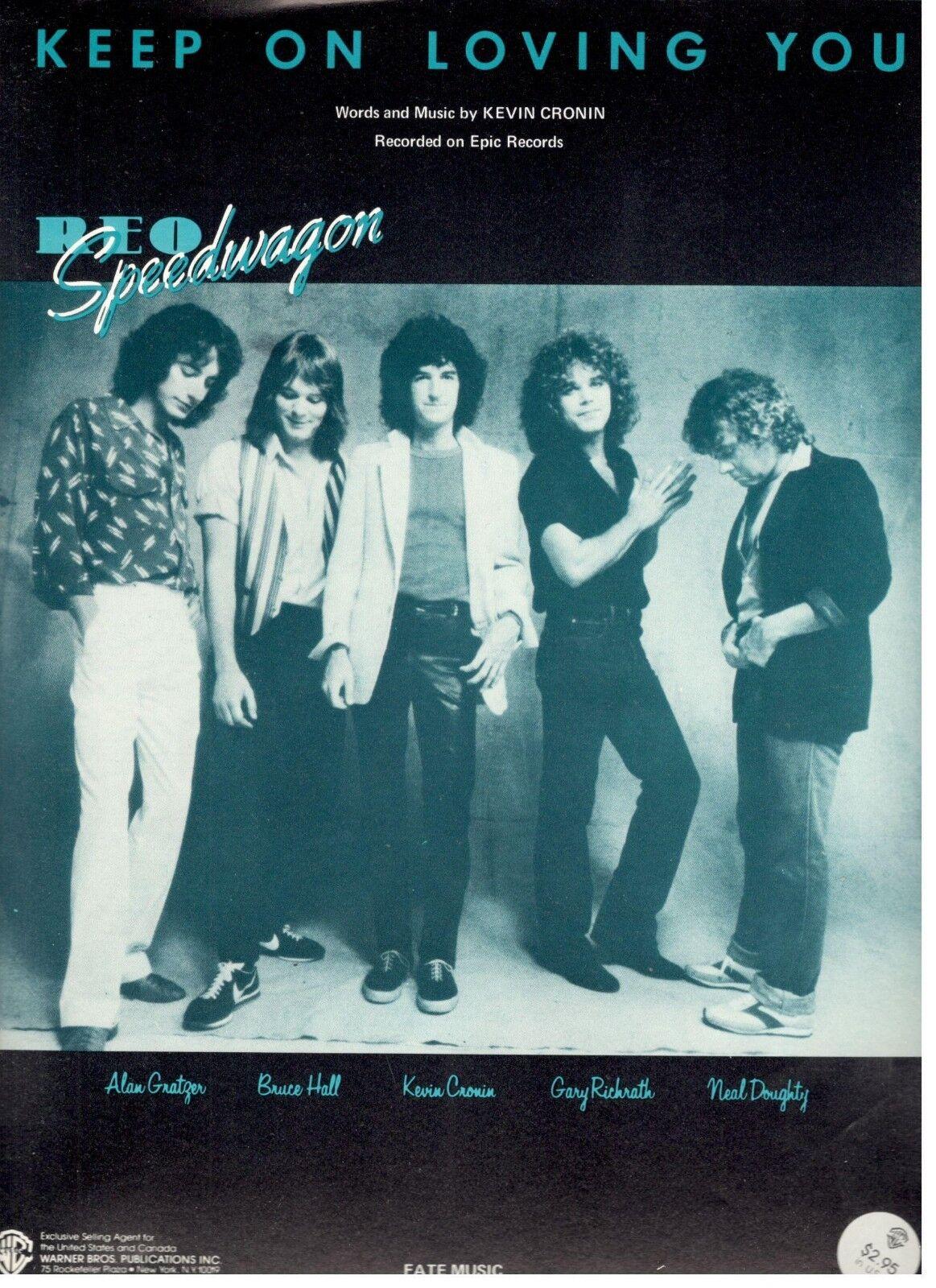 Reo Speedwagon-seguir en Amarte-Partituras-piano Vocal acordes de de de guitarra - 1981-NEW  muchas sorpresas