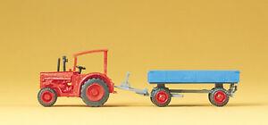 Preiser 79502 Spur N Figuren, Hanomag-Schlepper mit Anhänger #NEU in OVP#