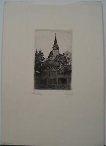 Karl Fuchs (Stuttgart 1872 - 1968 Esslingen) - Veitskirche Esslingen - Radierung