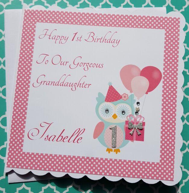 Personalised Handmade Birthday Granddaughter Daughter Niece Sister 1st 2nd 3rd 4