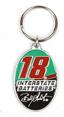 Bobby Labonte #18 NASCAR Keychain /& Keyring Pewter