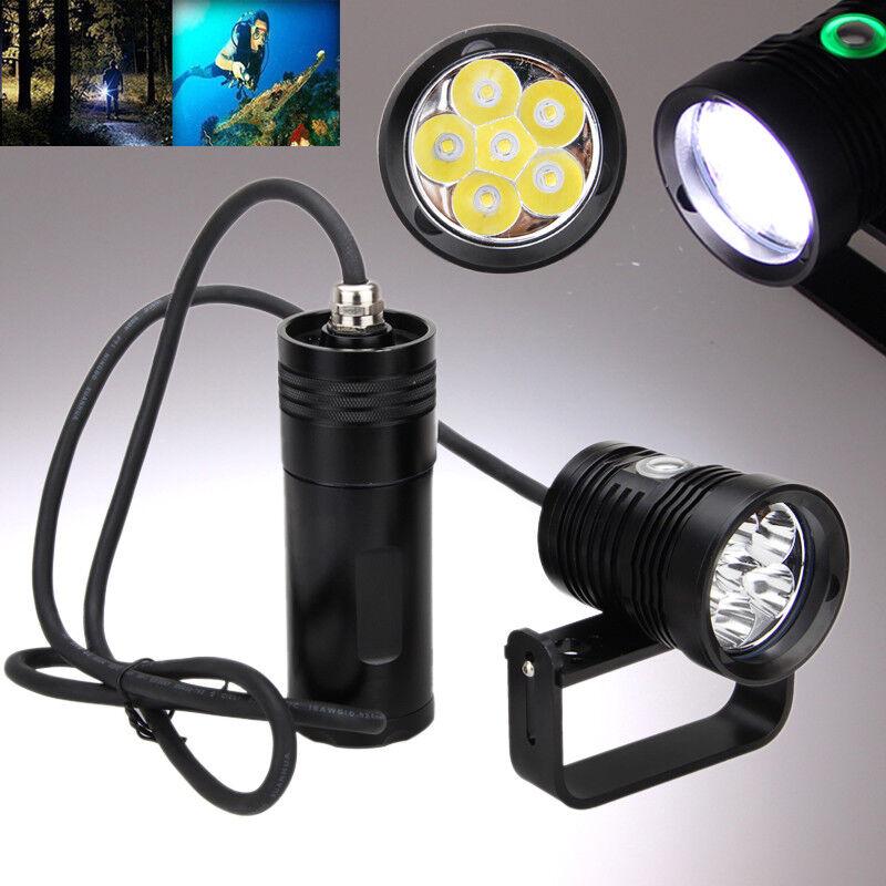 Bajo el agua 20000LM 6x XM-L2 LED Linterna Lámpara Impermeable De Buceo
