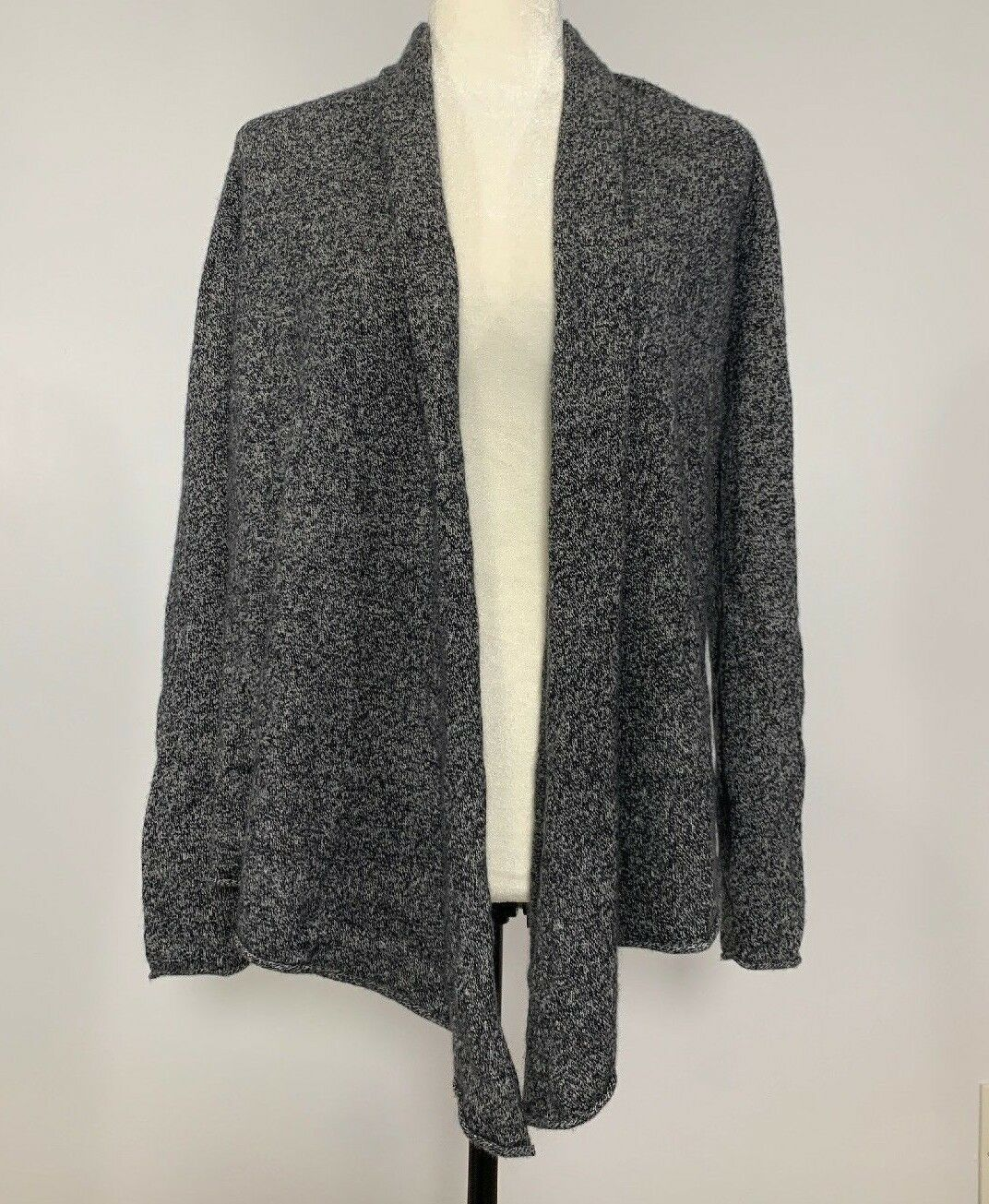 Women's AQUA Small Cashmere Drape Front Cashmere Cardigan EUC