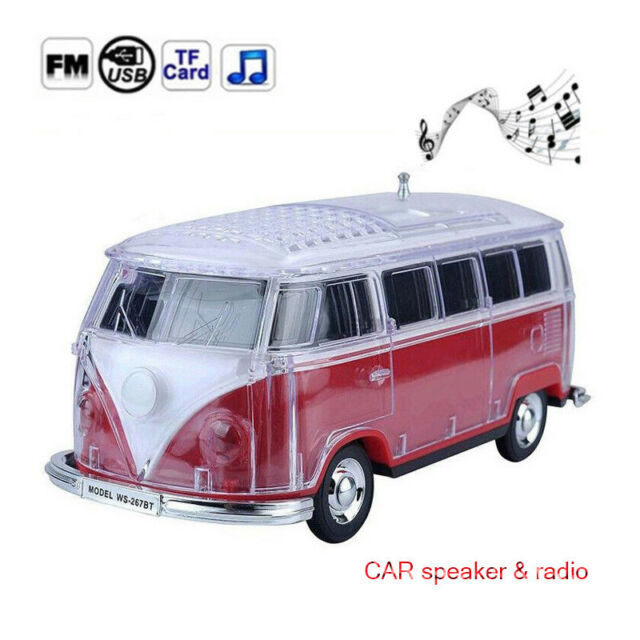 Portable MP3 Player Wireless Stereo Audio Bus Car Models Bluetooth Speaker  LED