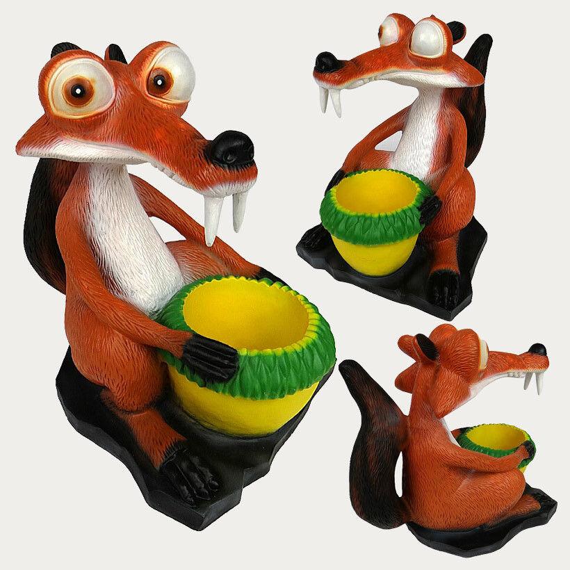 Scoiattoli e Eichel personaggio Gartendeko Animale Giardino Figura Personaggio dekofigur circa 41 C